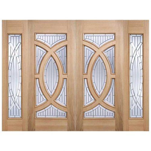 MajesticZinc Clear Bevelled Double Glazed External Door