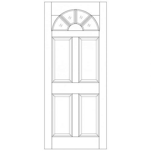 Carolina 4P Unglazed External Door