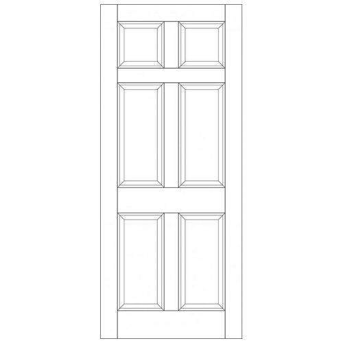 Colonial 6P M&T Unglazed External Door