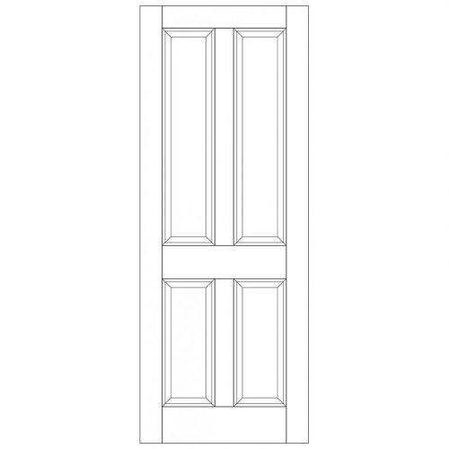Colonial 4P Unglazed External Door