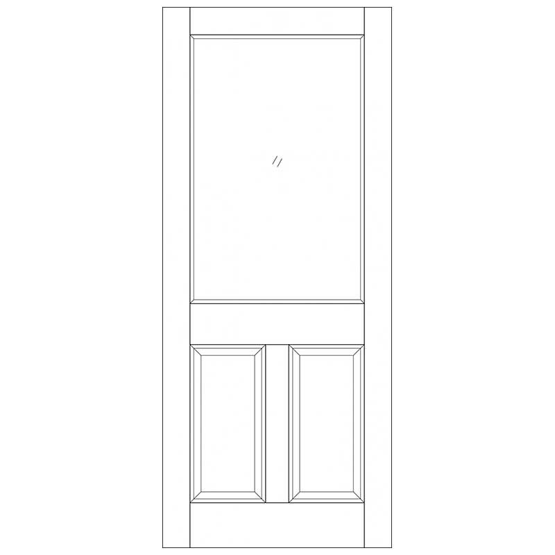 2XG 2 Panel M&T Unglazed External Door