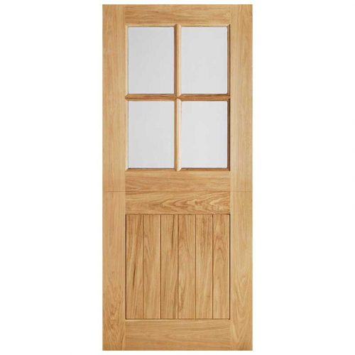 Cottage Stable 4L Clear Double Glazed External Door