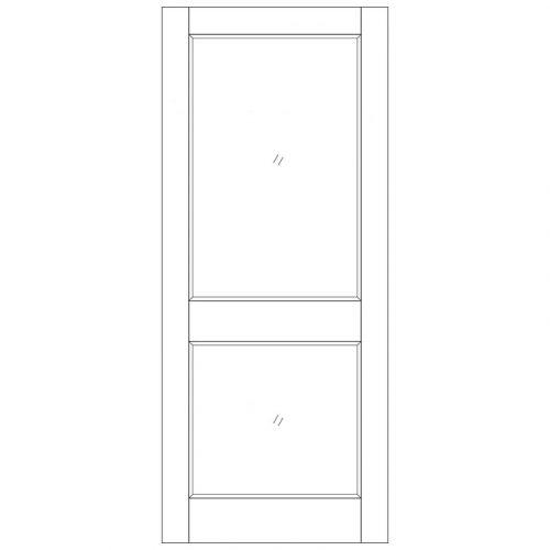 2XGG Dowel Unglazed External Door