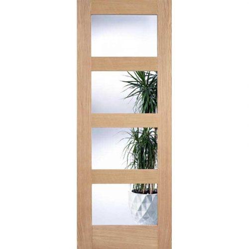 4L Clear Glazed Oak Internal Door