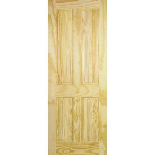 4 Panel Clear Pine Internal LPD Doors