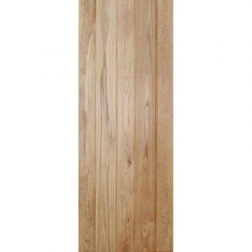 Solid Oak Button Bead Ledged Internal Door