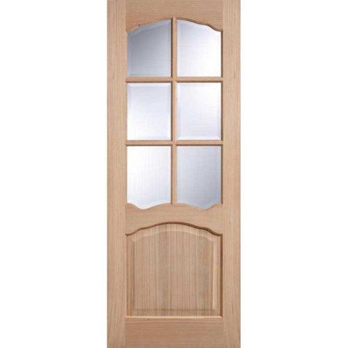 Riviera with Clear Bevelled Glass Oak Internal Door
