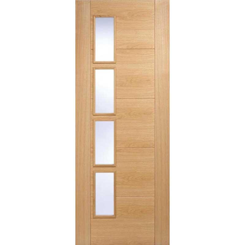 Vancouver 4 Light Offset Oak Internal Door