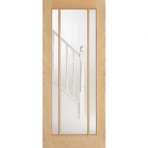Lincoln 3 Light Glazed Prefinished Oak Internal Door
