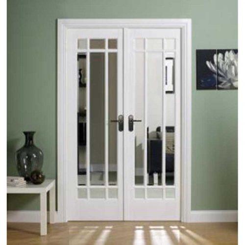 4' White Manhattan Glazed Room Divider Set