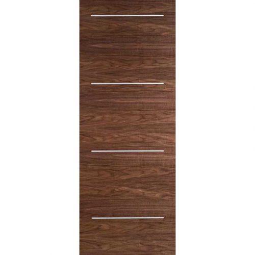 Murcia Walnut Internal Door with Aluminum