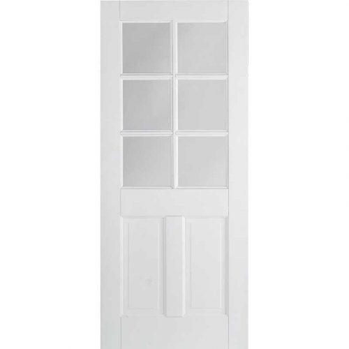 White Canterbury 2P/6L Glazed Internal Door
