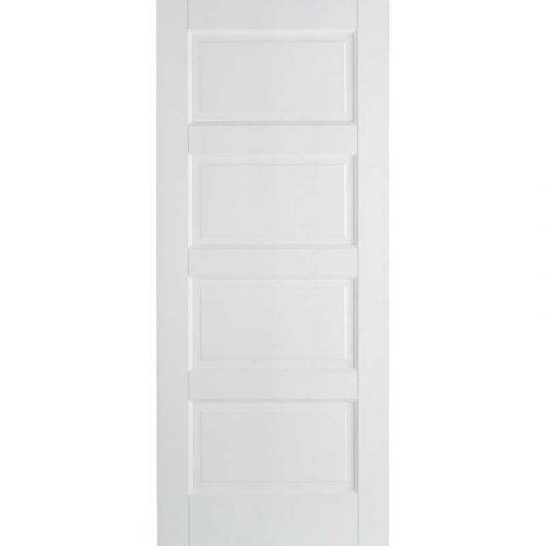 White Contemporary 4 Panel Internal Door
