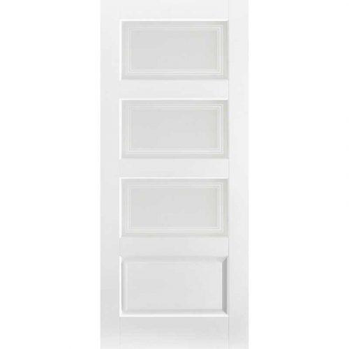 White Contemporary 4 Light Glazed Internal Door