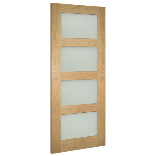 Coventry Frosted Glass Interior Oak Door