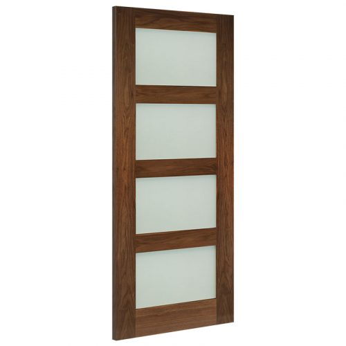 Coventry Frosted Glazed Prefinished Interior Walnut Door