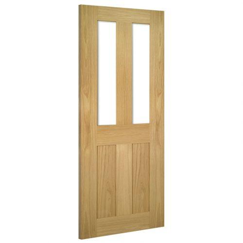 Eton Glazed Interior Oak Door Unfinished