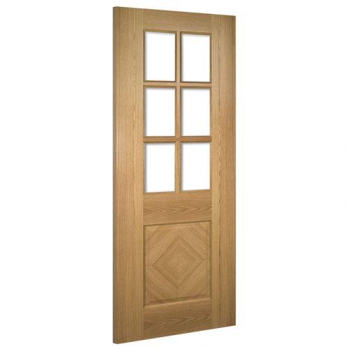 Kensington Glazed Interior Oak Door Prefinished