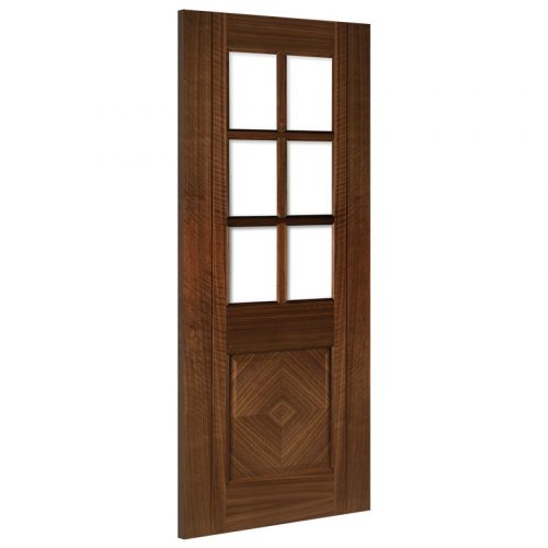 Kensington Glazed Interior Walnut Door Prefinished