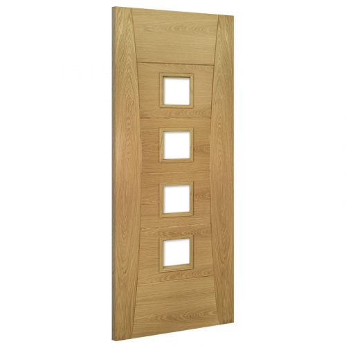 Pamplona Glazed Interior Oak Door Prefinished