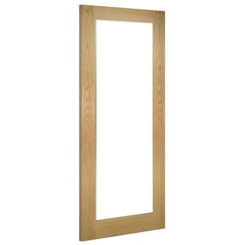 Walden Glazed Clear Interior Oak Door Unfinished