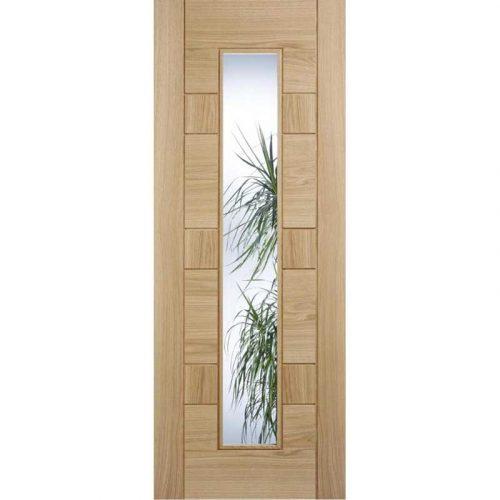 Edmonton Glazed Prefinished Oak Internal Door