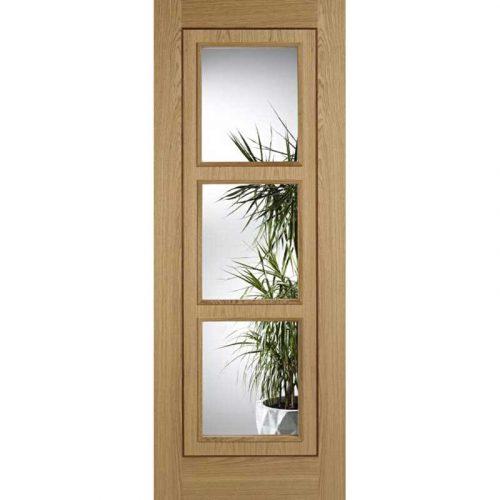 Oak 3 Light Inlay Glazed Oak Internal Door