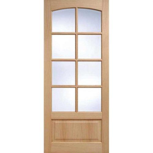 Worthing 8L Clear Bevelled Glass Oak Internal Door