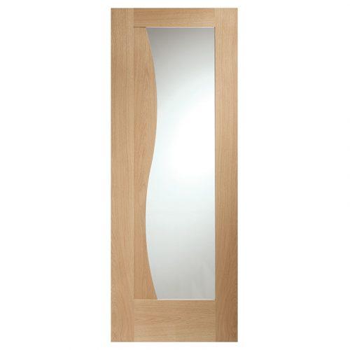 Emilia Internal Oak Door with Clear Glass