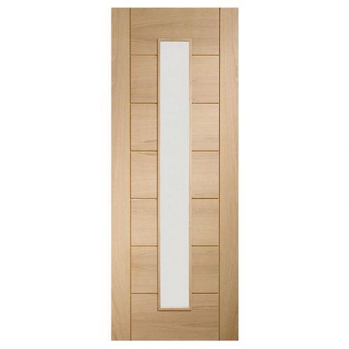 Palermo 1 Light Internal Oak Door with Clear Glass