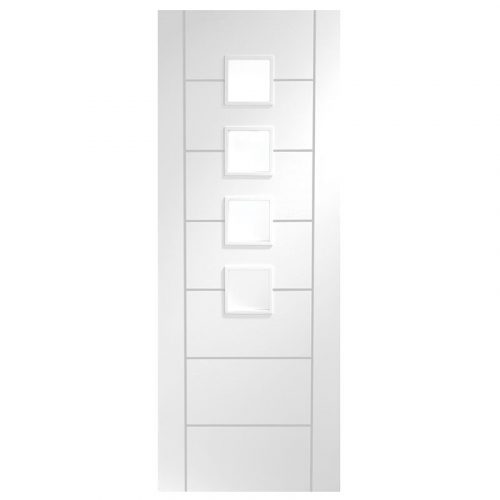 Palermo Internal White Primed Door with Obscure Glass