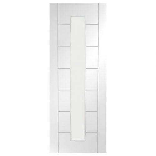 Palermo 1 Light Internal White Primed Door with Clear Glass