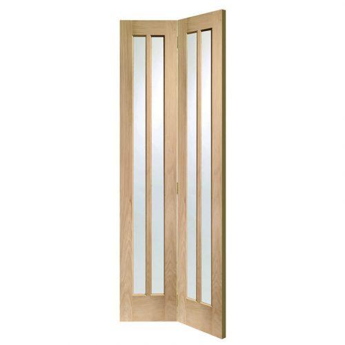 Worcester Bi-Fold Internal Oak Door with Clear Glass
