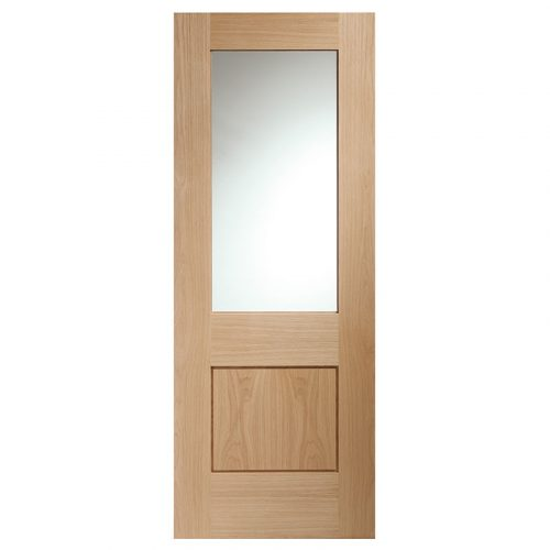 Piacenza Internal Oak Door with Clear Glass