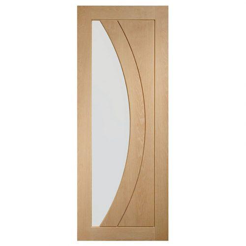 Salerno Internal Oak Door with Clear Glass