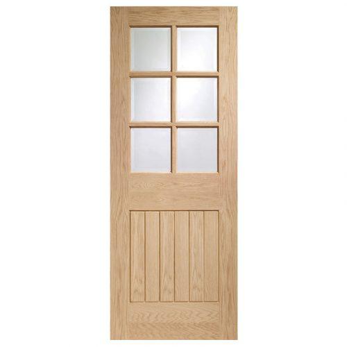 Suffolk 6 Light Internal Oak Fire Door with Clear Glass