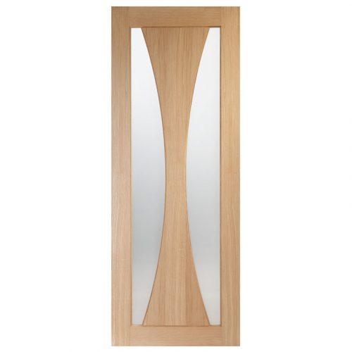 Verona Internal Oak Door with Obscure Glass