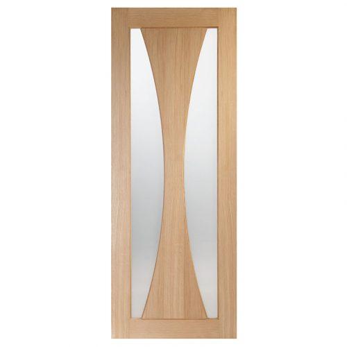 Verona Internal Oak Fire Door with Clear Glass