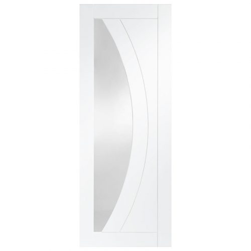 Salerno Internal White Primed Door with Clear Glass