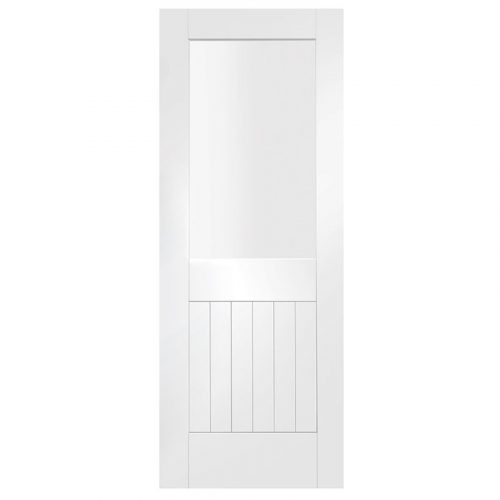 Suffolk Internal White Primed Door with Clear Glass