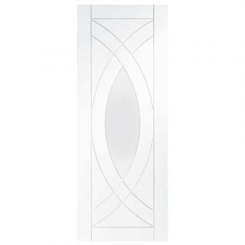Treviso Internal White Primed Door with Clear Glass