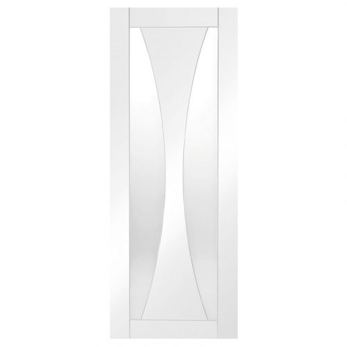Verona Internal White Primed Door with Clear Glass