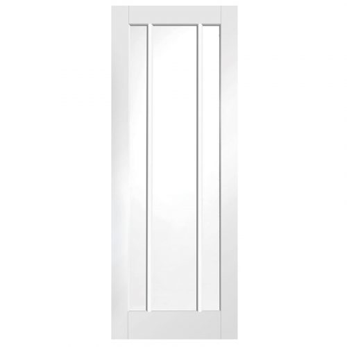 Worcester Internal White Primed Door with Clear Glass