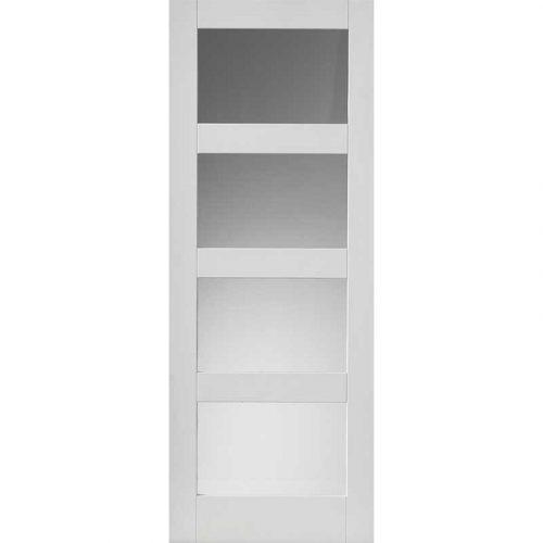 Calypso Cayman Glazed White Primed Door