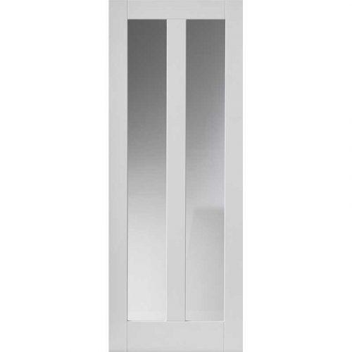 Calypso Dominica Glazed White Primed Door