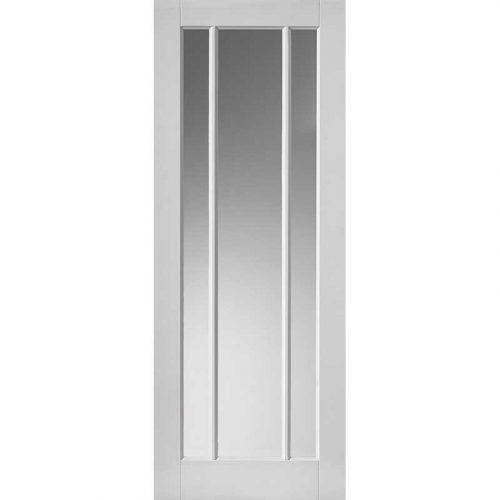Calypso Trinidad Glazed White Primed Door