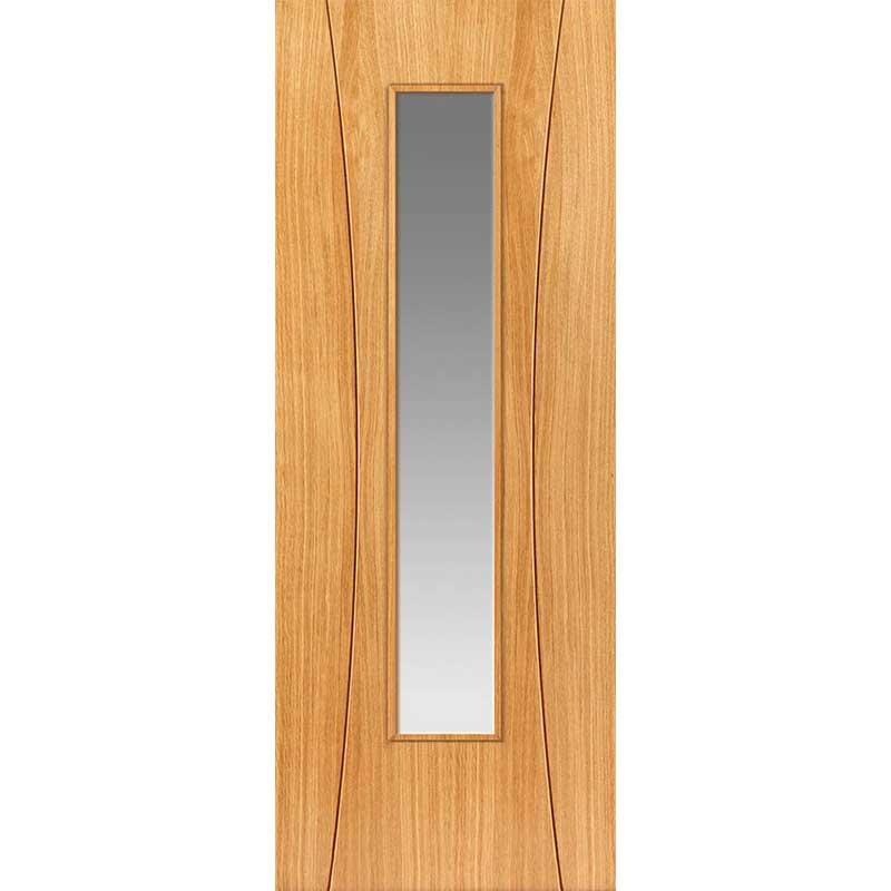 Elements Arcos Oak Glazed Internal Door