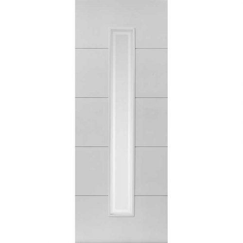 Limelight Dominion Glazed White Primed Door