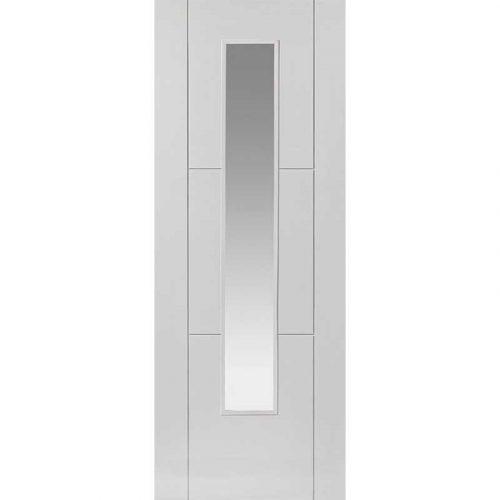 Limelight Mistral Glazed White Primed Door
