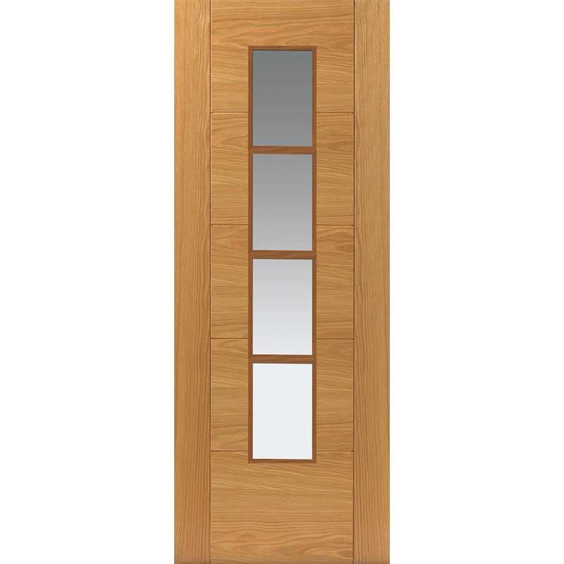 River Oak Modern Bela Glazed Door